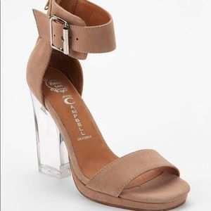 Jeffrey Campbell Clear Heel Sandal with Box